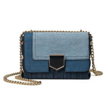 Load image into Gallery viewer, Women Bags Casual Chain Messenger Bag Lady's Denim Handbags Famous Brands Shoulder Bag Clutch Bags