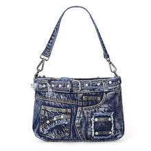 Load image into Gallery viewer, Luxury Handbags Women Bags Designer Women Messenger Bags Vintage Casual Denim Crossbody Bag Sac A Main
