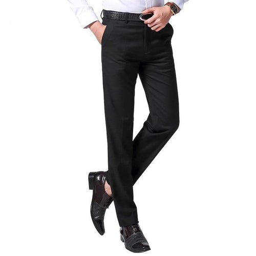Male Classic Business Casual Trousers Full Length