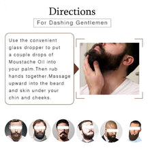 Load image into Gallery viewer, Men Beard Grooming Set Moustache Oil Balm Beard Styling Mustache Grooming Wax Moisturizing Wax Beard Care Gift Kit+Comb