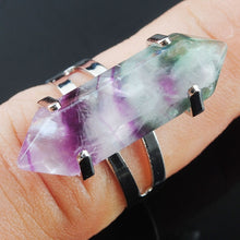 Load image into Gallery viewer, buy one get five Natural Gem Stones Healing Reiki Chakra Beads Ring Adjustable
