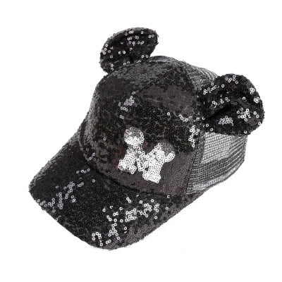 Sequins Ear Hats Kids Snapback Baseball Cap With Ears Funny Hats Spring Summer Hip Hop Boy Hats Caps
