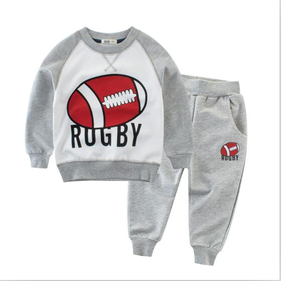 Tracksuit for boys children clothing kids clothes sports suit for boys and girls striped and letter printed t-shirt and pants