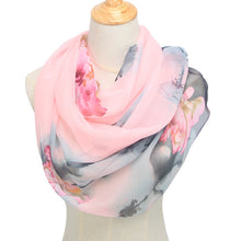 Load image into Gallery viewer, spring and autumn chiffon women scarf polyester geometric pattern design long soft silk shawl