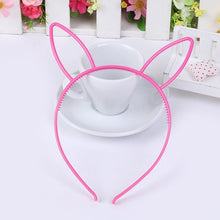 Load image into Gallery viewer, kids black cat ears head bands fashion Lady Girl Hairband Sexy Self Headband Baby birthday party Hair Accessories for Women hoop