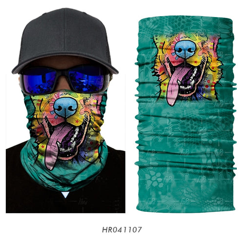 Cycling Magic Bandana Animal Monkey Shark Neck Warmer Tube Shield Gaiter Scarf Face Mask Headband Snowboard Bicycle Headwear 3D - moonaro
