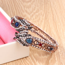 Load image into Gallery viewer, Retro Jewelry Crystal Bracelet For Women Antique Gold Fashion Punk Party Accessories