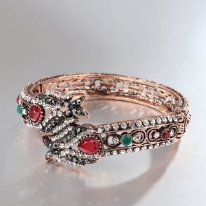 Retro Jewelry Crystal Bracelet For Women Antique Gold Fashion Punk Party Accessories