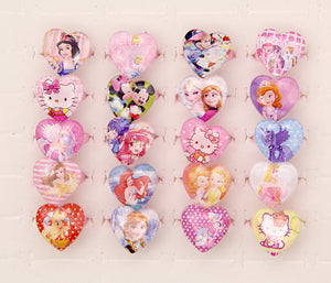50pcs Lovely Mix Resin Cartoon Snow Queen Girls Princess Children/Kids Rings - moonaro