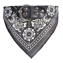 Load image into Gallery viewer, Fashion Dog Bandana Collar Cat Scarf Tie Leather Neckerchief for Small Large Dog Collar Custom Necklace Pet - moonaro