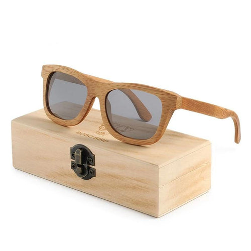 Men Women Wooden Bamboo Sunglasses Ladies Eyewear Handmade Sport Polarized Glasses in Wood Box
