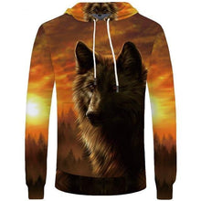 Load image into Gallery viewer, Wolf Hoodies Men Lightning Men'tops Clothing Cloud Pocket Animal Hoddie Sweatshirt 3d Hoodies Hip Hop Casual