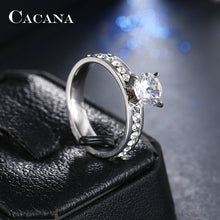 Load image into Gallery viewer, Titanium Stainless Steel Rings For Women Circle CZ  Fashion Jewelry