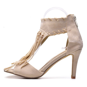 Women Sandals High Heels Summer Shoes For Ladies Fashion Plus Size 41 42 43 SNE-008