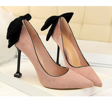 Load image into Gallery viewer, Thin High Heel Pumps Spring Summer Women High Heels Shallow Butterfly-knot Woman Sexy Party Wedding Ladies Shoes - moonaro