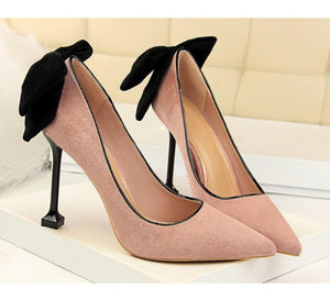 Thin High Heel Pumps Spring Summer Women High Heels Shallow Butterfly-knot Woman Sexy Party Wedding Ladies Shoes - moonaro