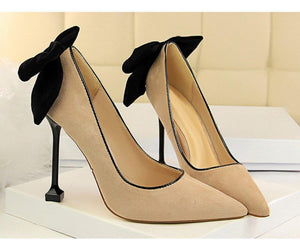 Thin High Heel Pumps Spring Summer Women High Heels Shallow Butterfly-knot Woman Sexy Party Wedding Ladies Shoes