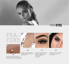 Load image into Gallery viewer, Eyebrow Powder 3 Colors Eye brow Powder Palette  Waterproof and Smudge Proof With Mirror and Eyebrow Brushes Inside - moonaro