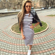 Load image into Gallery viewer, Women Maxi Long Slim Dresses Casual Loose Cotton Sundress for Female