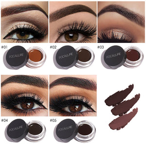 250 piece available Eyes Comestic Waterproof Eye Liner Gel Makeup Long Lasting Liquid Eyeliner Cream Eyeliner Makeup Set + Black Brush - moonaro