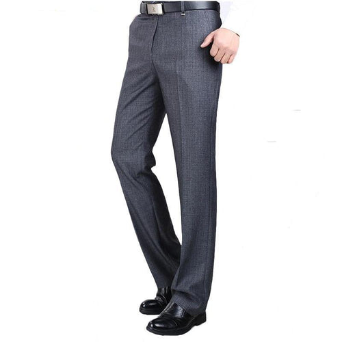 High Quality Men Pants Silk Trousers Straight Business Formal Pants