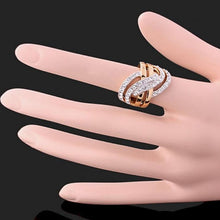 Load image into Gallery viewer, New Sale Wide Gold Color Cross Rings For Women Female Fashion Jewelry Party Finger Ring