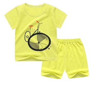 Short Sleeve tshirt T shirt Pants Tops Clothes Sets Baby Boys Suit shorts For 1 2 3 Year Boy