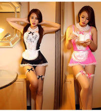 Load image into Gallery viewer, Maid Uniform Costumes Role Play  Women Sexy Lingerie Hot Sexy Underwear Lovely Female White Lace Erotic Costume