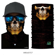 Load image into Gallery viewer, 3D Cycling Magic Scarf skull Hiking Neck Warmer Face Mask Head Shield Headband Headwear Men Bicycle Fishing - moonaro