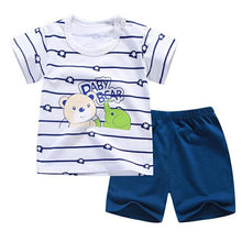 Load image into Gallery viewer, Short Sleeve tshirt T shirt Pants Tops Clothes Sets Baby Boys Suit shorts For 1 2 3 Year Boy