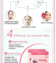 Load image into Gallery viewer, Korean cosmetics Farm Stay pearl skin whitening mask brighten nutrient face elastic Mask, anti-aging nourishing silk facial mask