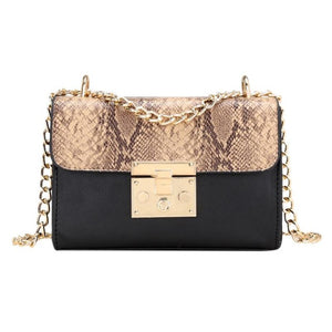 Fashionable Serpentine Woman Shoulder Bags Luxury leather Handbags Famous Brand Women Bags Designer - moonaro