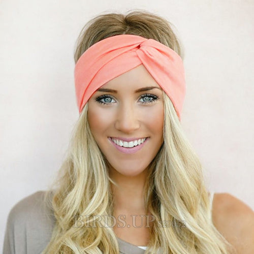 Twist Turban Headband for Women Bows Elastic Sport Hairbands Head Band Yoga Headbands Headwear Headwrap Girls Hair Accessories