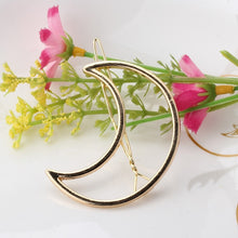 Load image into Gallery viewer, Fashion Hair Triangle Hair Clip Pin Geometric Alloy Hairband Moon Circle Hairgrip Barrette