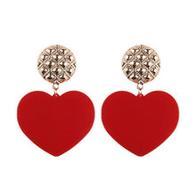Load image into Gallery viewer, Best lady New Charm Heart Pendant Statement Earrings for Women Earrings Fashion Wedding Jewelry - moonaro