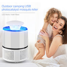 Load image into Gallery viewer, USB Electronics Mosquito Killer Lamp Pest Control Electric Mosquito Killer Fly Trap LED Light Lamp Bug Insect Repeller Zapper