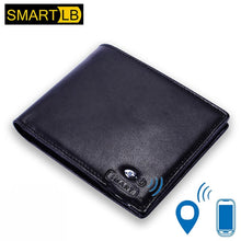 Load image into Gallery viewer, Anti-theft Smart Men Wallet Genuine Leather with Bluetooth and GPS Purse Card Holders for iOS Android
