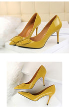 Load image into Gallery viewer, Women High Heels Ladies Shoes Concise Quartet Buckle Decoration Shoes Woman Shallow Sweet Wedding Women Pumps