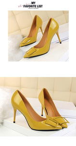 Women High Heels Ladies Shoes Concise Quartet Buckle Decoration Shoes Woman Shallow Sweet Wedding Women Pumps