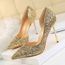 Load image into Gallery viewer, Women Pumps Extrem Sexy High Heels Women Shoes Thin Heels Female Shoes Wedding Shoes Gold Sliver White Ladies Shoes