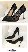 Load image into Gallery viewer, Lace Thin High Heel Pumps Spring Summer Women High Heels Shallow Embroider Woman Sexy Party Wedding Ladies Shoes - moonaro