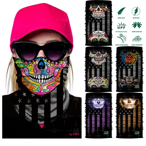 3D Magic sport bicycle bandanas Outdoor cycling Balaclava Neck Warmer Headwear scarf Shield Face Mask Bandana Headband women - moonaro