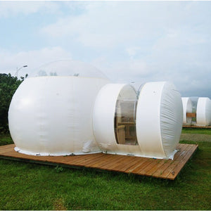 3m Inflatable Eco Home Tent DIY House Luxury Dome Camping Cabin Lodge Air Bubble - moonaro