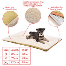 Load image into Gallery viewer, Dog and cat Self Heating Pad Pet Warming Cushion Bed for Medium Large Dogs and Cats Reflects Pets Own Thermal with Zipper Washable - moonaro