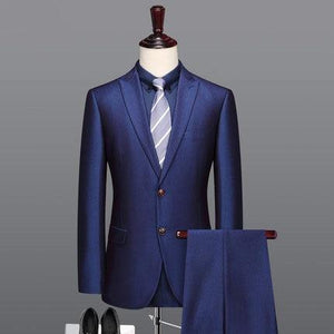 men suit royal blue man wedding suits single breasted blazer vest pant 2pcs set 3pcs set slim fit
