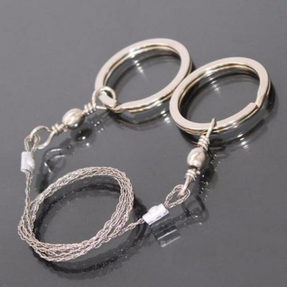 Portable Practical Emergency Survival Gear Steel Wire Saw Outdoor Camping Hiking Manual Hand Steel Rope Chain Saw Travel Tool