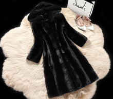 Load image into Gallery viewer, Faux Fur Vest Top Fashion Wide-waisted Full Fur Mink Coat