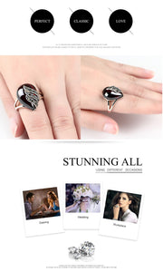 Unique 925 Sterling Silver Ring 5ct Simulated Garnet Party Ring For Women Water Drop Shape Fine Jewelry Gifts