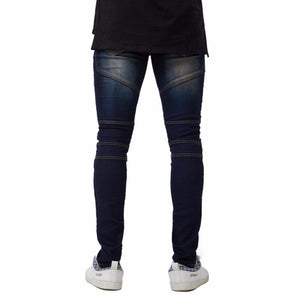 New Men's Ripped Biker Skinny Jeans Stretch Elastic Fashion Pencil Jeans