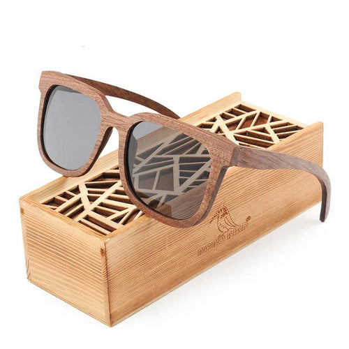 Wood Sun glasses Polarized Sunglasses Women UV Protection Ladies Eyewear Men Bamboo With Gift Box